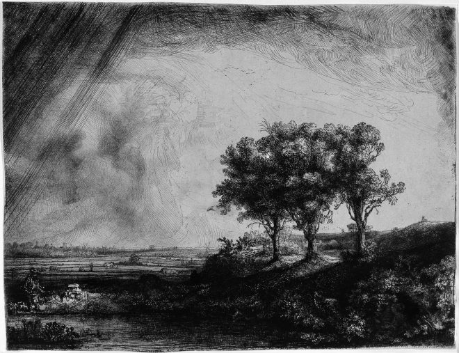 A famous etching by Rembrandt